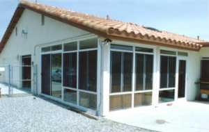 Sunroom walls to an existing roof